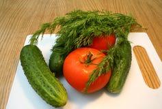 ogórkowy koperkowy pomidor Zdjęcie Royalty Free