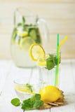 Ogórkowy miękki napój z cytryną Obrazy Stock
