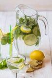 Ogórkowy miękki napój z cytryną Zdjęcie Royalty Free
