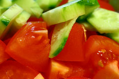 ogórkowy pomidor Obrazy Stock