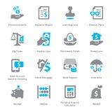 Ogłoszenia towarzyskiego & biznesu Finansowe ikony Ustawiają 1 Obraz Royalty Free