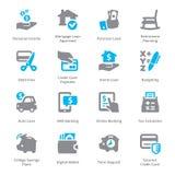 Ogłoszenia towarzyskiego & biznesu Finansowe ikony Ustawiają 2 - Sympa serie Zdjęcie Royalty Free