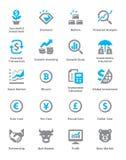 Ogłoszenia towarzyskiego & biznesu Finansowe ikony Ustawiają 4 - Sympa serie Zdjęcie Stock
