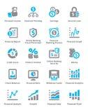 Ogłoszenia towarzyskiego & biznesu Finansowe ikony Ustawiają 5 - Sympa serie Zdjęcia Royalty Free