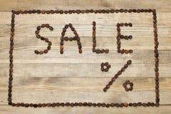 Ogłoszenie sprzedaż robić kawowe fasole obrazy royalty free