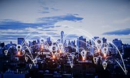 Og?lnospo?eczny sieci i innowacji poj?cie ilustracja wektor