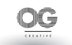 OG O G Czarny I Biały linii loga Listowy projekt Fotografia Royalty Free