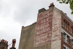Ogłoszenie dla armii zbawienia w Londyn Obraz Stock
