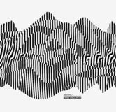 Ogange Blume Fractal Muster mit optischer Illusion Auch im corel abgehobenen Betrag stock abbildung