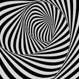 Ogange Blume Fractal Muster mit optischer Illusion Auch im corel abgehobenen Betrag vektor abbildung