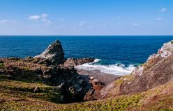 Oganzaki cape. Attraction of Ishigaki island, Okin. Beautiful ocean cliff at Oganzaki cape. Attraction of Ishigaki island, Okinawa, Japan Stock Photos
