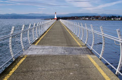 Ogden点breakwall,维多利亚, BC加拿大 免版税库存图片
