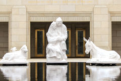 Ogden LDS Temple. Nativity scene at the rear entrance to the Ogden Latter Day Saints Temple stock photography