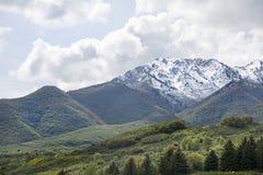 Ogden Peak en las montañas del wasatch Fotografía de archivo libre de regalías
