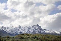 Ogden Peak nelle montagne del wasatch Fotografie Stock Libere da Diritti