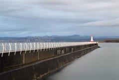 Ogden Point Breakwater Lighthouse, Columbia Britânica Fotos de Stock Royalty Free