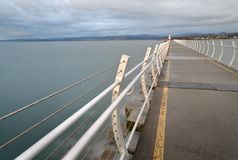 Ogden Point Breakwater Lighthouse, Columbia Britânica, Canadá Fotos de Stock