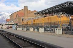 Ogden Railway station. Vintage train in Ogden Railway station Royalty Free Stock Photo