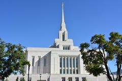 Ogden Utah Temple Fotos de Stock Royalty Free