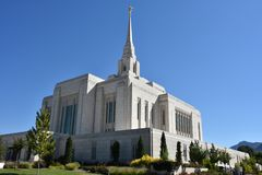Ogden Utah Temple. In the USA stock images