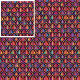 Ogee colorful tulip seamless pattern stock illustration