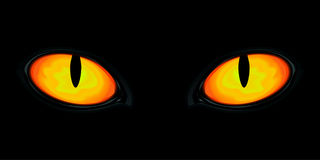 Ogen in dark stock illustratie