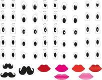 Ogen en lippen vector illustratie