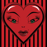 Ogen van een Liefje van de Valentijnskaart Royalty-vrije Stock Afbeelding
