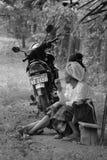 Ogenblik van rust in Laos Royalty-vrije Stock Afbeeldingen