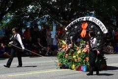 Ogenblik van Stilte, de Parade van de Trots van Vancouver Royalty-vrije Stock Fotografie
