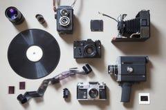 Oggetti analogici di tecnologia immagine stock libera da diritti