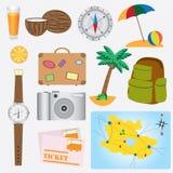 Oggetti circa il tema di vacanza. Fotografia Stock