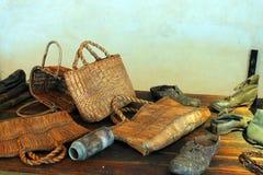 Oggetti confiscati a Auschwitz fotografia stock libera da diritti