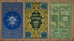 Oggetti d'annata: etichetta Art Nouveau Immagine Stock