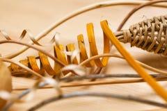 oggetti decorativi fatti di legno Immagine Stock