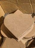 Oggetti decorativi variopinti a forma di del cuore Fotografie Stock