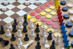 Oggetti del gioco da tavolo Fotografie Stock