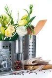 Oggetti della cucina, cookware Fotografie Stock Libere da Diritti