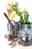 Oggetti della cucina, cookware Fotografia Stock