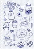Oggetti della prima colazione Fotografia Stock