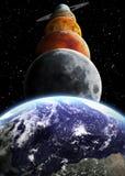 Oggetti dello spazio e del sistema solare Fotografia Stock Libera da Diritti