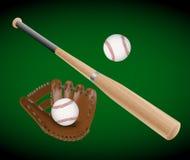 Oggetti di baseball Fotografia Stock Libera da Diritti