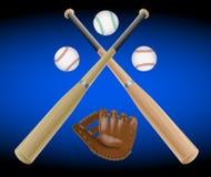 Oggetti di baseball Immagini Stock
