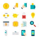 Oggetti di Bitcoin Cryptocurrency Immagine Stock Libera da Diritti