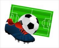 Oggetti di calcio Fotografie Stock Libere da Diritti