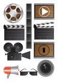 Oggetti di cinematografia di vettore Fotografia Stock