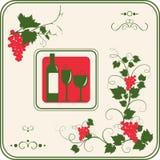 Oggetti di disegno della cantina impostati. Fotografia Stock