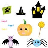 Oggetti di Halloween Immagini Stock