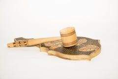 Oggetti di legno fotografia stock libera da diritti