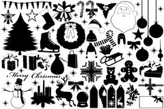 Oggetti di Natale royalty illustrazione gratis